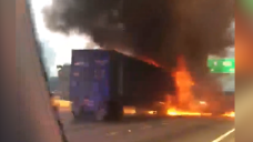 One Injured In Tractor-Trailer Fire on Florida's Turnpike