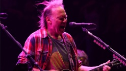 Neil Young Down by Boardwalk for Sandy Benefit Show