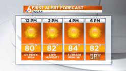 Saturday Forecast: Sunny Skies
