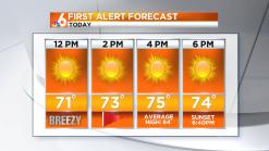 Forecast: Breezy, Sunny Saturday