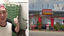 Checkers Customers Find Hamburger Buns Stacked in Bathroom