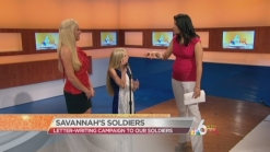 Savannah Helps our Soldiers