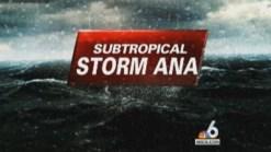 Subtropical Storm Ana Forms