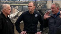 California Gov. Brown Surveys Camp Fire Destruction
