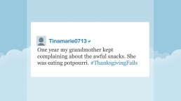 'Tonight' Hashtags: #ThanksgivingFails