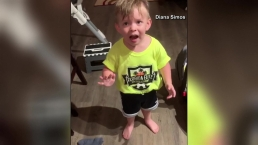 Boy Upset When Mom Forgets Goodbye Kiss