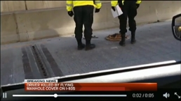 Woman Killed by Dislodged Manhole Cover on I-93