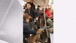 Pit Bull Attacks Woman on NYC Subway