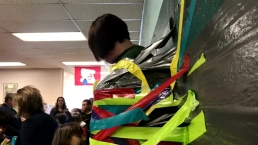 Principal Taped to Wall for Good Cause