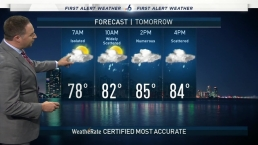 Soggy Sunday, Showers & Storms Expected Into Work Week