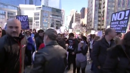 Thousands Rally Outside Trump Hotel in NYC for 'Not My Presidents Day'
