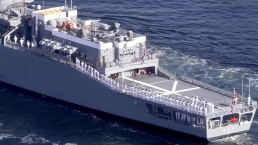 Japanese Warship Cruises Into Port Everglades