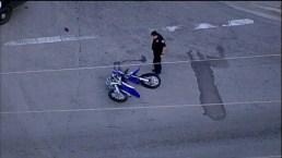 Dirt Bike And Car Crash in Opa-locka