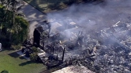 Home Destroyed by Fire in SW Miami-Dade