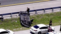 Chase That Started in Miami-Dade Ends in Rollover Crash on I-595