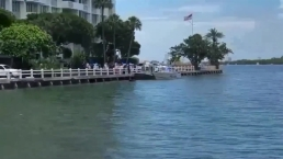 Car Goes Into Biscayne Bay in Miami