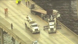 Semi Truck Hangs Over Edge of Florida Bridge