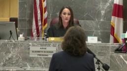Judge Elizabeth Scherer Speaks With Attorney for Sun Sentinel