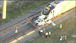 Brightline Train Crashes Into Unoccuiped Car