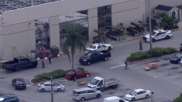Scene of Stolen Car Crash in NW Miami-Dade