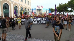 RAW VIDEO: Demonstrations Continue in Puerto Rico Over Governor's Ouster