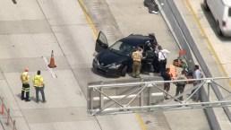 Scene of Fatal Crash on I-95 in Miami-Dade