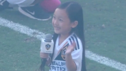 Tiny 7-Year-Old Belts Out National Anthem at LA Galaxy Game