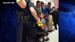 Texas Cops Escort Fallen Comrade's Son to School