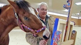 Thoroughbred Race Horse Retires, Takes Up Painting