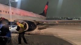 Delta Plane Slides Off Runway at Cincinnati Airport