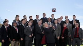 Trump Welcomes Colleges Sports Champions at WH Reception