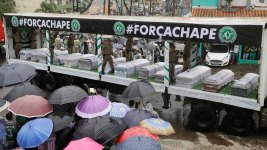 Rain, Sorrow at Memorial for Brazilian Plane Crash Victims