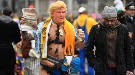 Trump Costumes Popular at German Carnival