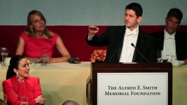 Paul Ryan Jabs Trump in Comedy Routine for NY Elite