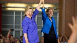 Clinton, Warren Team Up in Ohio Against Trump