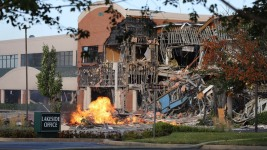 Gas Explosion Destroys Md. Office Building, Shopping Center