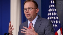 Mulvaney: Ukraine Aid Held Up in Part Over Election Probe