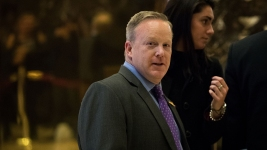Incoming Press Secretary Spicer Holds Briefing