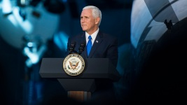 Dozens Protest VP Pence at Commencement Address