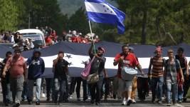 US-Bound, Honduran Migrant Caravan Crosses Guatemala Border