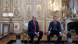 Trump Responds to Skipped Memorial Criticism, Attacks Macron