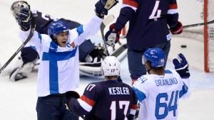 Finland Thrashes U.S. 5-0 for Hockey Bronze