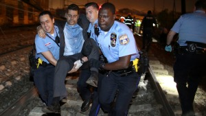 Dramatic Images: Train Derails in Philly