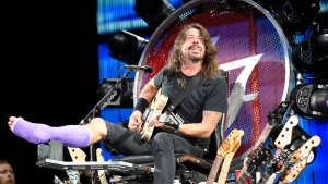 Dave Grohl Kicks Off Tour on Giant Throne