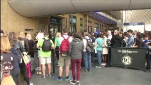 Fans Gather at King's Cross for Harry Potter's 20th Anniversary