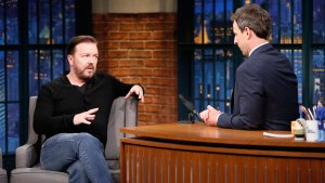 Gervais Talks 'Office' Character on 'Late Night'