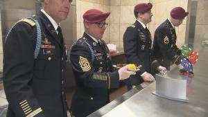 Thanksgiving Prep: Serving The Soldiers