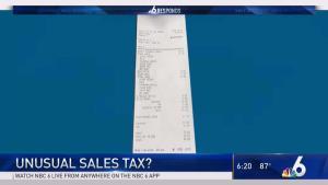 Unusual Sales Tax?