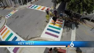 Key West Installs 4 Rainbow Crosswalks for LGBT Support