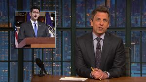 'Late Night': Roy Amberson Performs Ditty About Paul Ryan